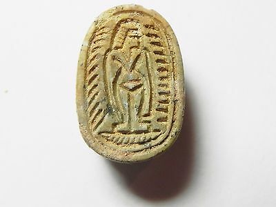 Zurqieh -Af680- Ancient Egypt ,2Nd Intermediate Stone Scarab. 1782 - 1570 B.c