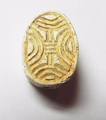 Zurqieh -Af683- Ancient Egypt ,2Nd Intermediate Stone Scarab. 1782 - 1570 B.c