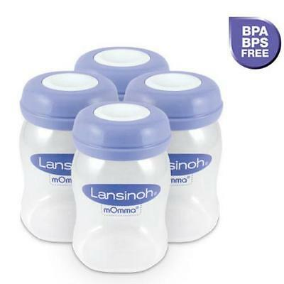Lansinoh Breastmilk Bottles Storage Milk Baby Feeding Containers BPA Free 4 Pack