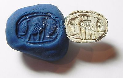 Zurqieh -Af697- Ancient Egypt ,2Nd Intermediate Stone Scarab. 1782 - 1570 B.c