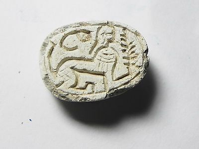 Zurqieh -Af662- Ancient Egypt ,2Nd Intermediate Stone Scarab. 1782 - 1570 B.c