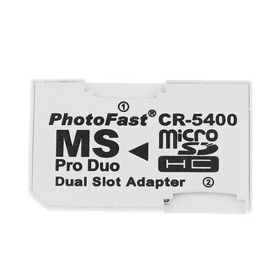Micro SD SDHC TF Auf MS Pro Duo Memory Stick Adapter 2 Slots
