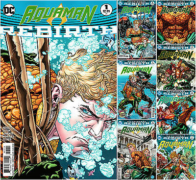 AQUAMAN : REBIRTH + issues #1,2,3,4,5,6,7 - NM - THE DROWING - Set of 8 issues