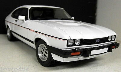 Norev 1/18 Scale 182715 Ford Capri 1982 2.8 Injection White Diecast model car