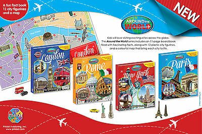 Around The World Busy Book -London - Paris - New York - Rome Includes 12 Figures