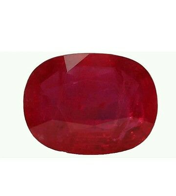 8.00 Carat Genuine Oval Red Ruby Stone in Jewel Case, Natural Gemstone