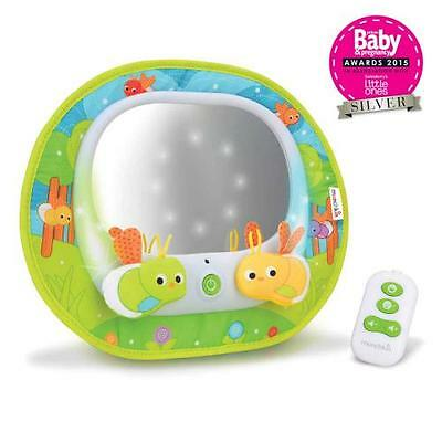 Munchkin Car Baby View Mirror Musical LED Lights Remote Control Magical Firefly