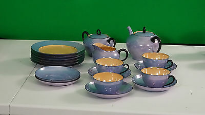 Meito China Hand Painted Lusterware Japan - Cups Teapot Creamer Cake Plates Etc