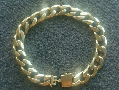 9ct 44.7g Mens Gold Bracelet