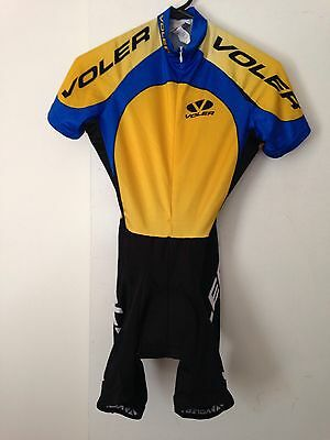 Women's Voler Cycling Suit Size XS New Without Tags Blue/black/gold