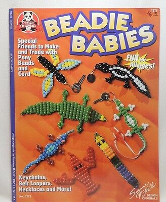Beadie Babies Beaded Buddies Craft Booket Make Colorful Keychains Necklaces 3271