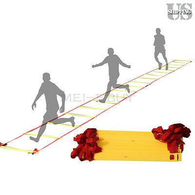12 Rung Soccer Football Speed Agility Training Ladder Sports Exercise Equipment