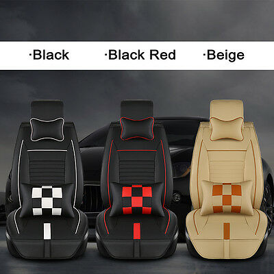 Luxury PU Leather 5 Seats Full Winter Heavy Car Seat Cover Set Cushion Protector