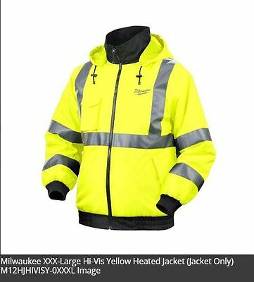 Milwaukee Hi-Vis Heated Jacket Yellow M12HJHIVISY Industrial Contractor Tradie
