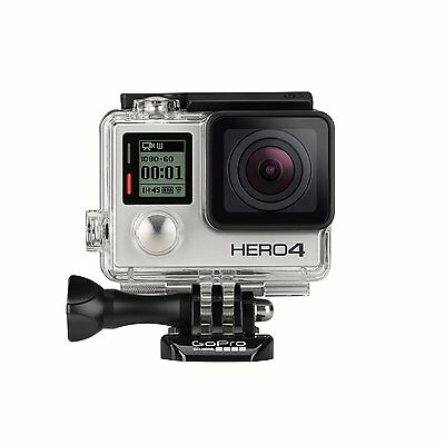 GoPro HERO4 Camcorder Silver Bundle Includes Battery and 16 GB MicroSD card