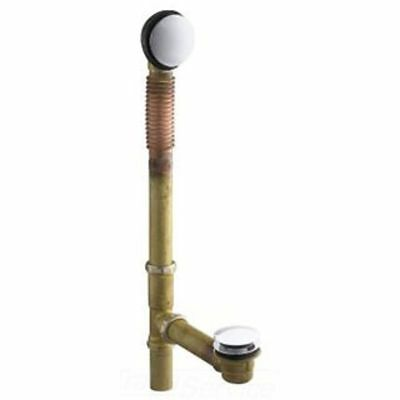 KOHLER K-7259-CP CLEARFLO Brass Toe Tap Bath Drain Polished Chrome ...