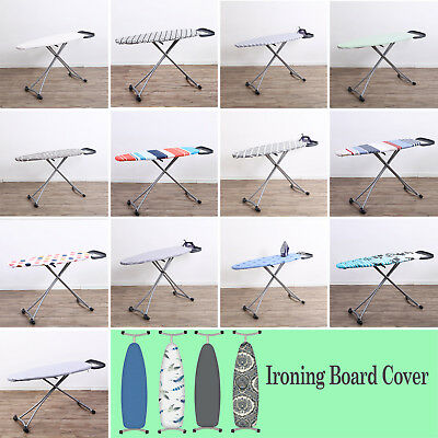 Cotton Printed Ironing Board Cover & Pad Extra-thick Elastcated Heat Reflecting