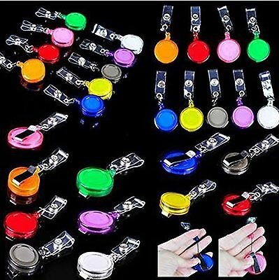 Wholesale 50Pcs Retractable ID Card Badge Holder Key Chain Reels With Clip