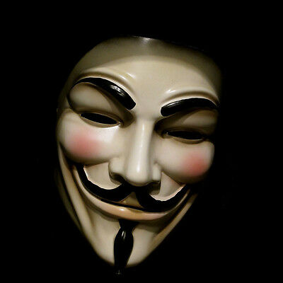 Guy Fawkes Maske V wie for Vendetta Mask Occupy Anonymous Cosplay Karneval