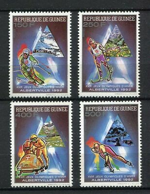 27365) GUINEA 1990 MNH** Nuovi** Olympic Games Albertville