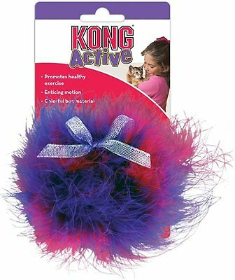 Kong Cat Twisted Boa Puff Cat / Kitten Interactive Play Toy Toys