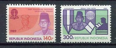 38229) INDONESIA 1989 MNH** Education day 2v