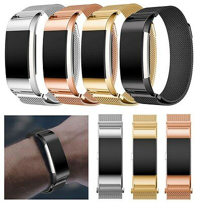 Replacement Stainless Steel Bracelet Band Strap For Fitbit Charge 2 Smart Watch