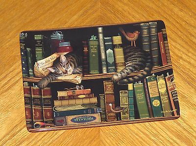 Max in the Stacks Cat Plate Charles Wysocki Art Classic Tails Collection