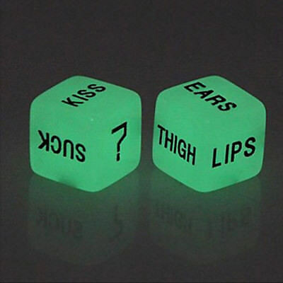 Pop 1Pair Erotic Dice Game Toy Sex Party Fun Adult Couple Glow in Dark Luminous
