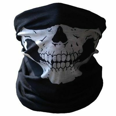 Skull Balaclava or Scarf Hood Warm Winter Ski Full Face Mask Bike BMX UK SELLER