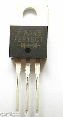 FEP16GT Fairchild  Diode Switching 400V 16A 3-Pin TO-220AB