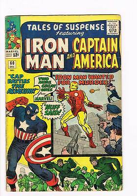 Tales of Suspense # 60 Captain America Iron Man 2nd Hawkeye grade 4.5 !!