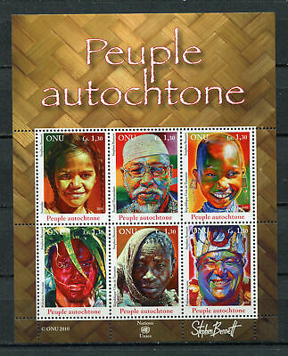 s10554) UNITED NATIONS (GENEVE) MNH** 2010, Indigenous people 6v M/s