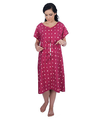 Hospital Maternity Delivery/Birthing/Laboring Gown fetal monitoring/IV access