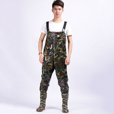 Adult Chest Waders Fishing Wading Pants Boot Overalls Camouflage Work Trousers