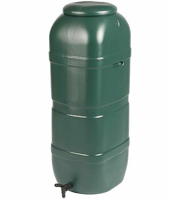 100 Litre Strata Slim Space Saver Garden Water Butt With Tap And Lockable Lid