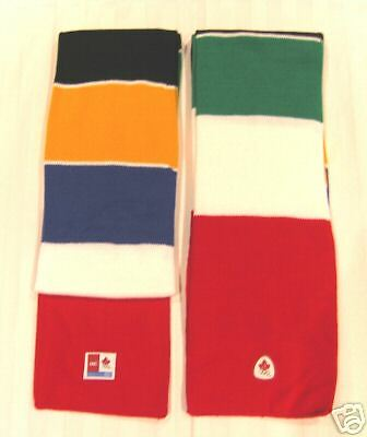 New Hbc Canada Official Olympic Scarf 2006 Torino Turin Games * Hbc Colours
