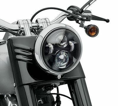 "GENUINE Harley-Davidson 7"" DAYMAKER PROJECTOR LED HEADLAMP, GLOSS BLACK 67700242"