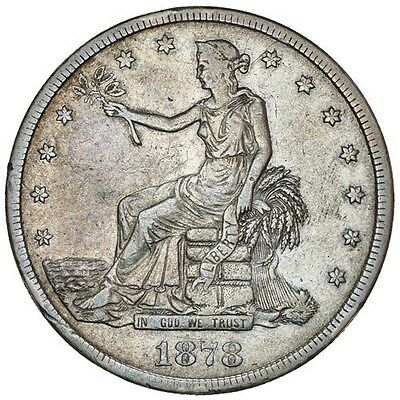 1878 CC US Trade Dollar Silver $1 Coin  NGC VF Details  SCARCE