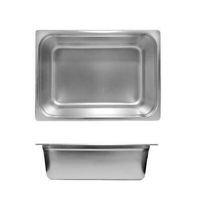 12x Bain Marie Tray / Steam Pan / Gastronorm 1/2 Size 150mm Deep Stainless Steel
