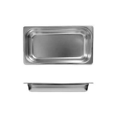 3x Bain Marie Tray / Steam Pan / Gastronorm 1/3 Size 65mm Deep Stainless Steel