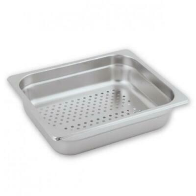 Bain Marie Tray / Steam Pan / Gastronorm, Perforated, 1/2 Size, 100mm Deep