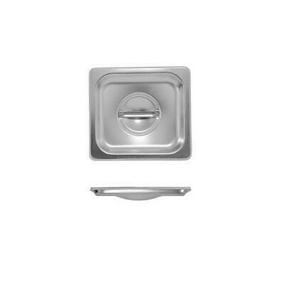 6x Lid for Bain Marie Tray / Steam Pan / Gastronorm / GN, 1/6, Stainless Steel
