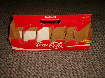 Vintage Coca Cola Carrier Container Holds 12 7 Oz Bottles Cardboard