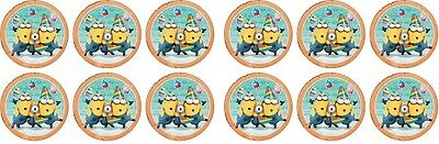 Minions Party ~ Birthday ~ Edible Image Rice Paper cupcake Toppers x 12
