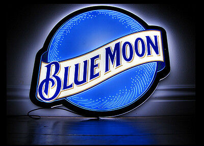 Brand New Blue Moon Neon LED Beer Bar Lamp Light Sign 14'' L801