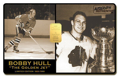 Bobby Hull Limited Edition 24K Gold Bar