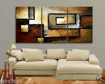 Modern Large Hand painted Art Oil Painting Abstract Wall Decor Canvas No Frame3P