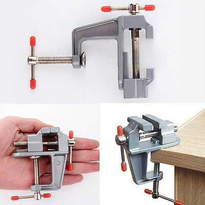 """3.5"""" Aluminum Jewelers Hobby Clamp On Table Bench Vise Mini Tool Vice"""