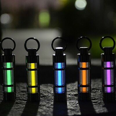 Titanium Keychain Self illuminating Fluorescence Light 25 years Tritium Marker